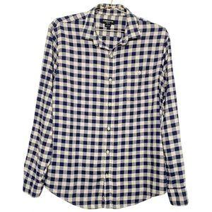 Claiborne Slim Fit Mens Checkered Button Up L